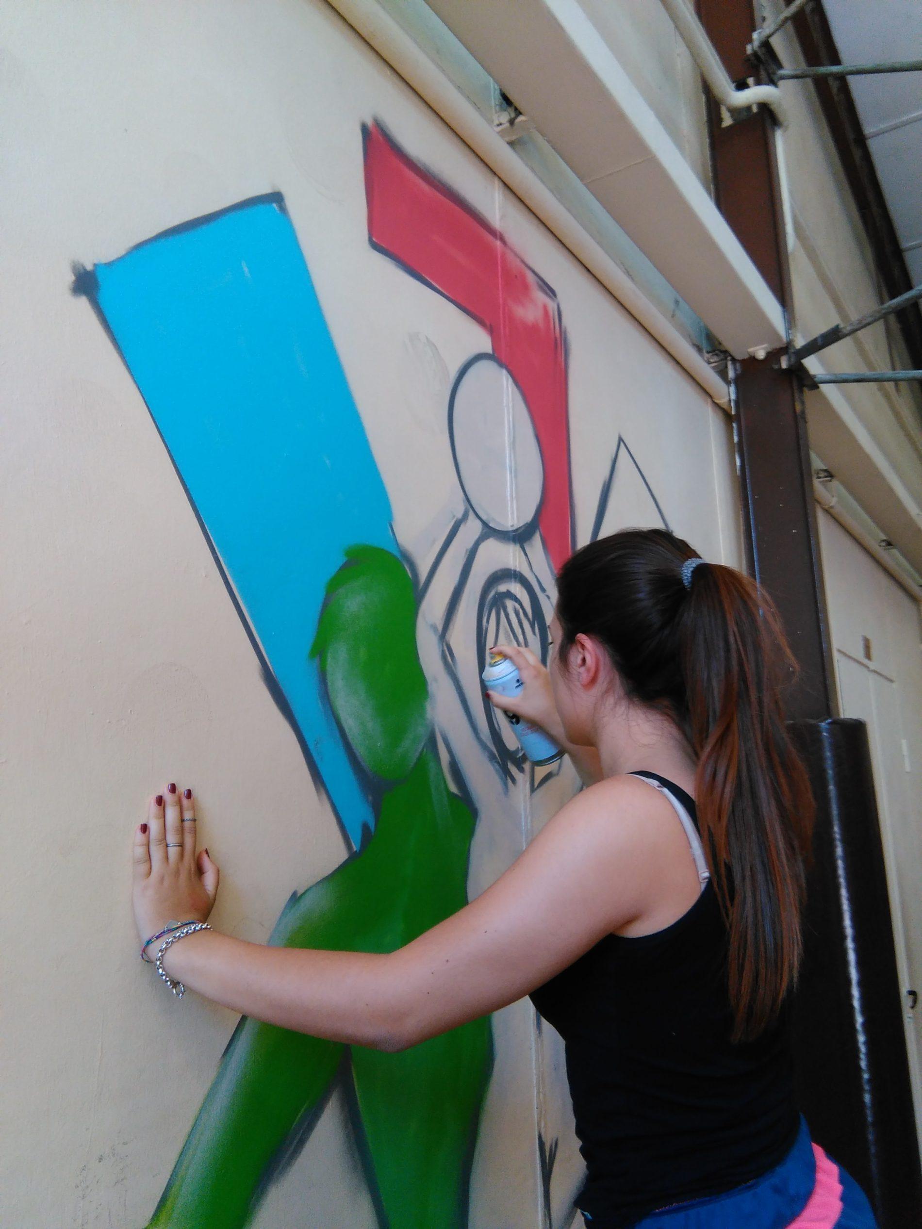 Murale a tema sportivo