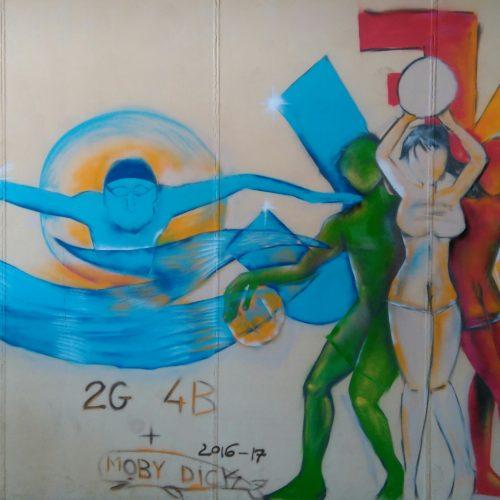 Realizzato il murale a tema sportivo