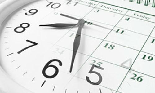 Avviso sull'orario 16-20 ottobre