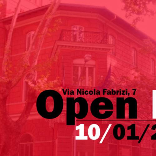Open Day 10/01/2019 – Programma