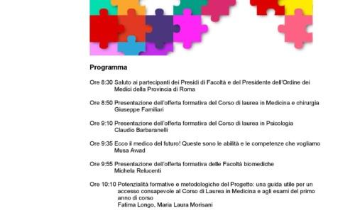 """Orientamento-PCTO: Univ. La Sapienza: """"Il cammino verso medicina"""" – 6 novembre 2019"""