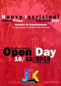 Open Day 18 dicembre 2019