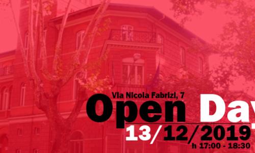 Open Day – 13 dicembre 2019