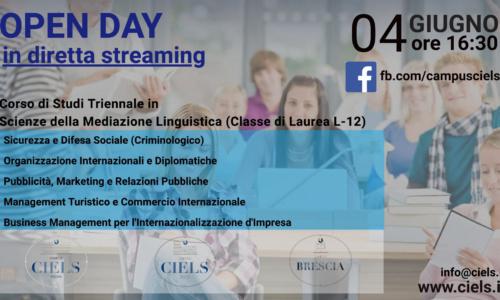 Offerta Didattica-Open Day in diretta streaming 04 giugno 2020 – CAMPUS CIELS ROMA